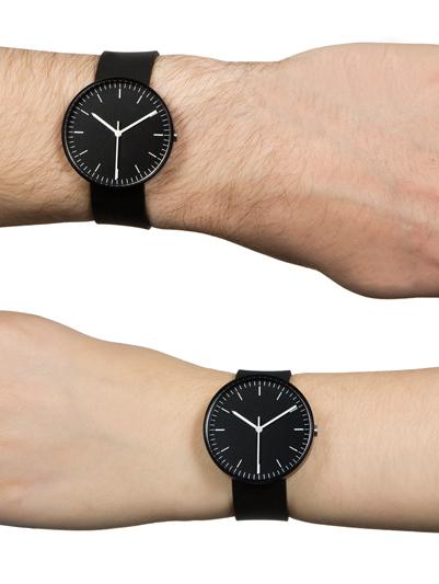 ручные часы унисекс с минималистичным современным дизайном, представленные в четырех монохромных тонах