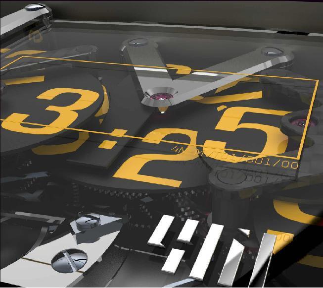 четыре числа цифрового дисплея: десятки часов, часы, десятки минут и минуты