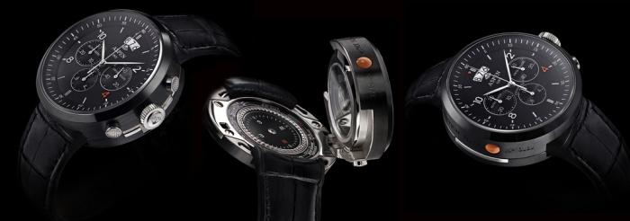 Рене ван Асс (Rene van Ass) подарил первые часы The Black Piste Клаусу Обермайеру (Klaus Obermeyer)