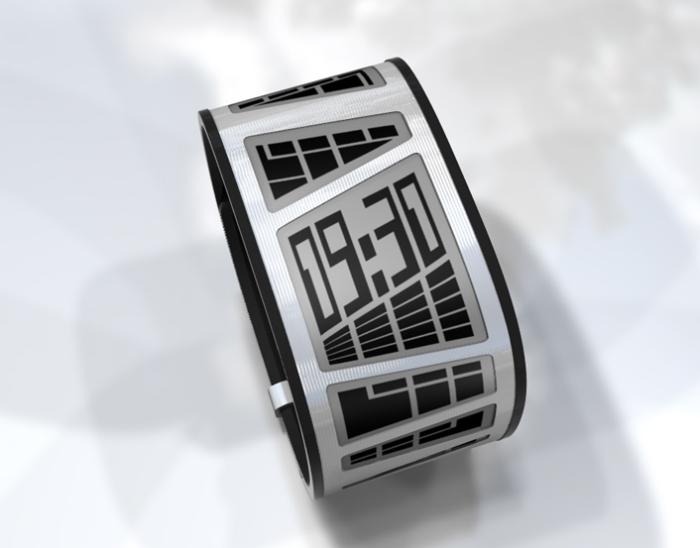 новый концепт часов Tokyoflash E-Clock