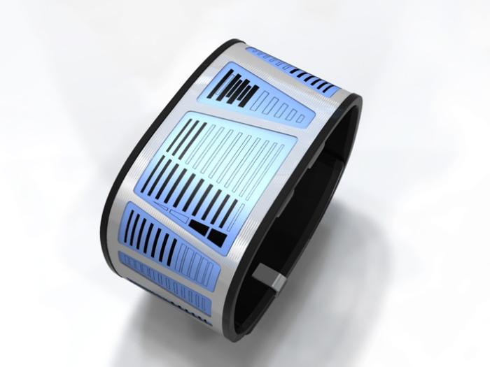 Часы Tokyoflash E-Clock основаны на технологии E-ink