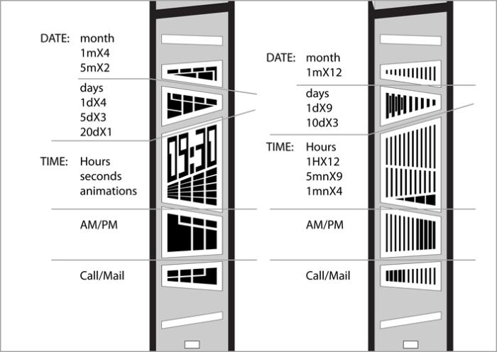 Как определить время на Tokyoflash E-Clock