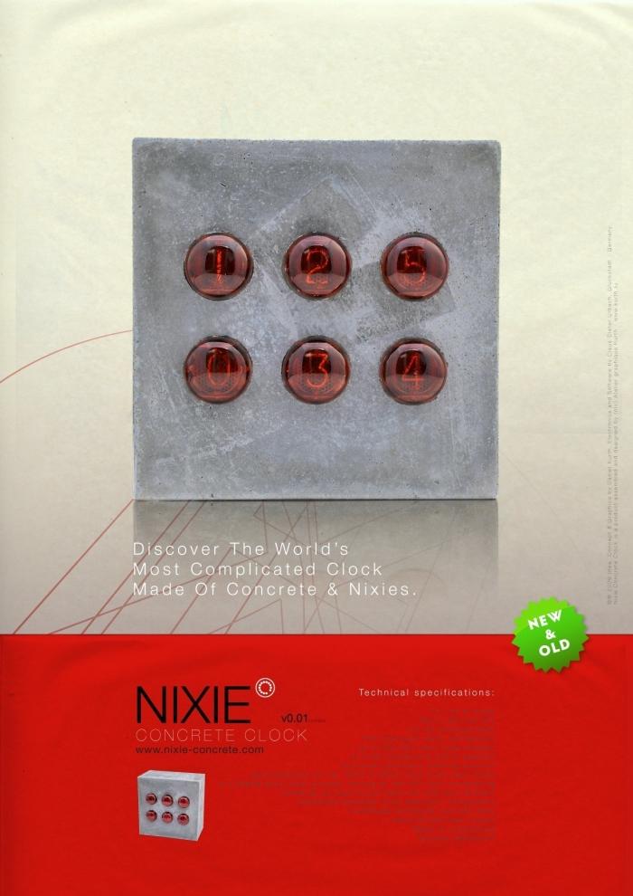 вместо привычного циферблата используются электронные трубки Z560M Nixie