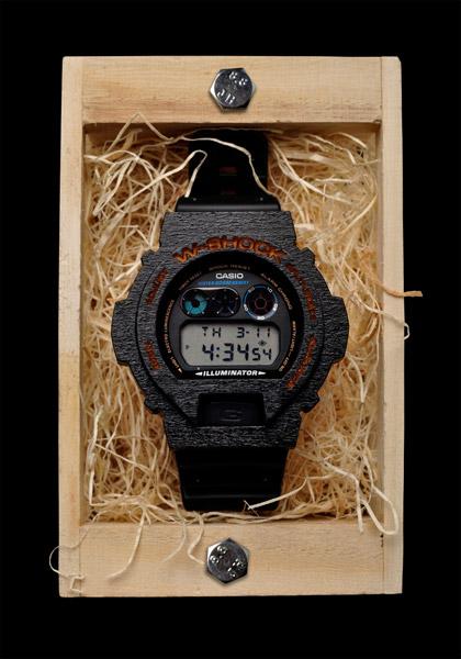 Wood Bezel G-Shock Watch