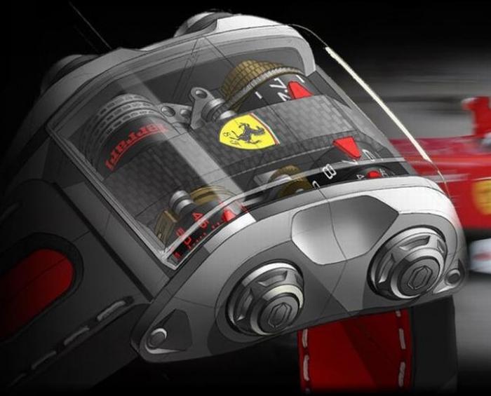 Корпус часов из титанового сплава, который используют для создания компонентов автомобилей Ferrari Формулы-1