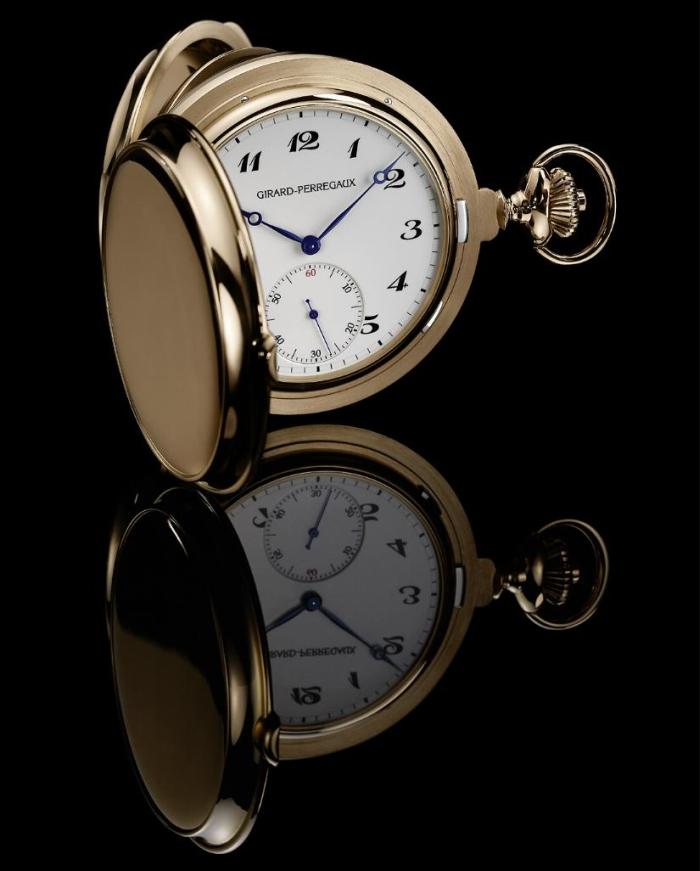 Girard-Perregaux представила карманные часы с турбийоном и тремя золотыми мостами