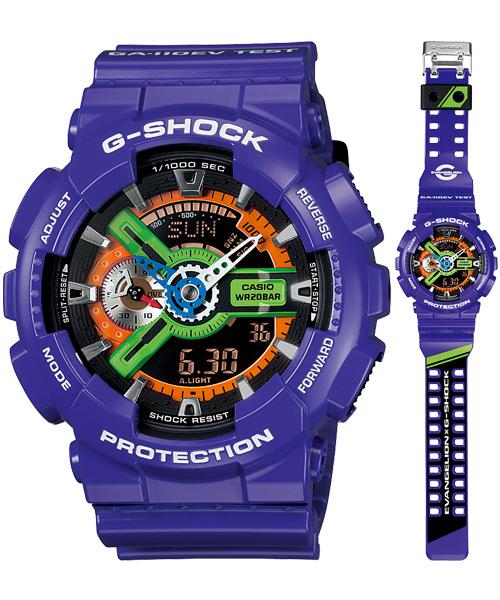 ярко фиолетовые часы, посвященные аниме Евангелион