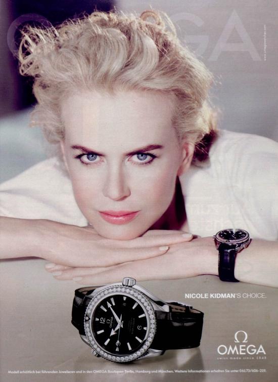 Николь Кидман (Nicole Kidman) уже более 5 лет сотрудничает с Omega