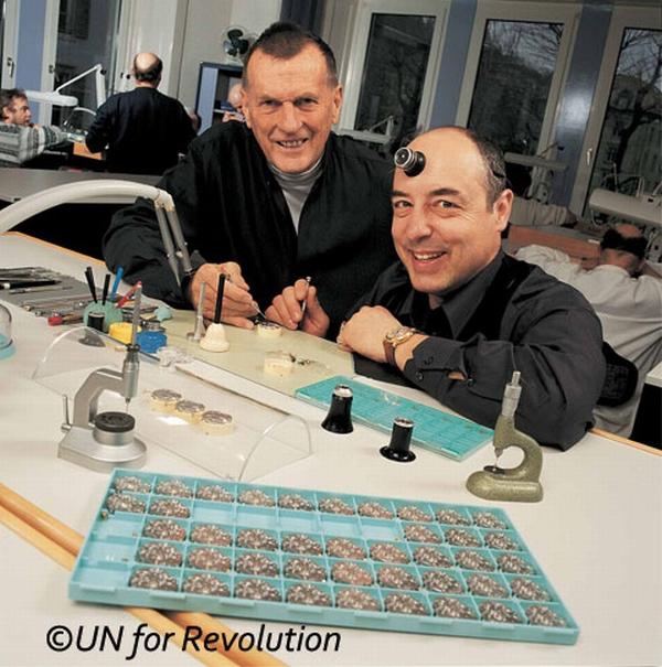 Генеральный директор Ulysse Nardin Рольф Шнайдер (Rolf Schnyder) и главный часовщик компании  Людвиг Охслин (Ludwig Oechslin)