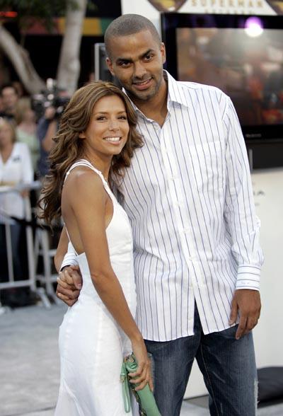 Тони Паркер (Tony Parker) с женой Евой Лонгорией (Eva Longoria)