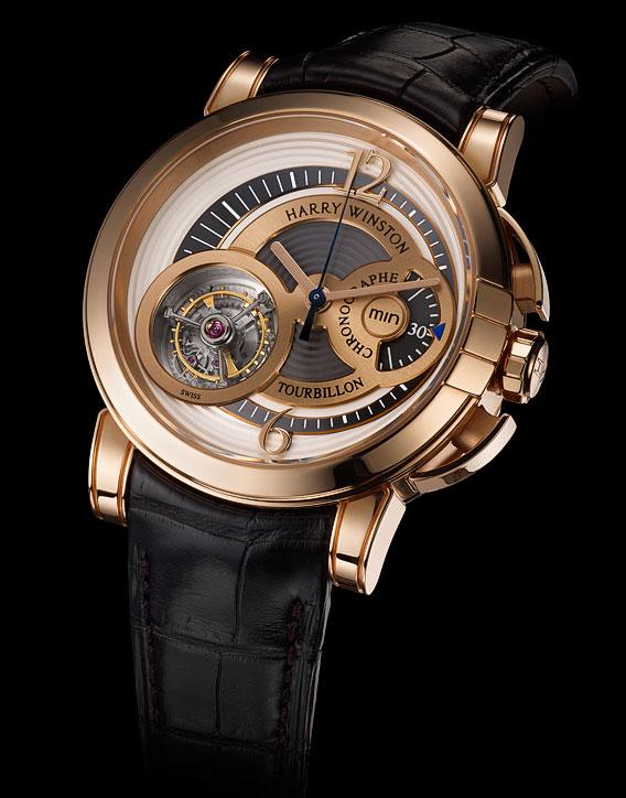 Ценители высокого часового искусства наверняка высоко оценят Harry Winston Midnight Chrono Tourbillon