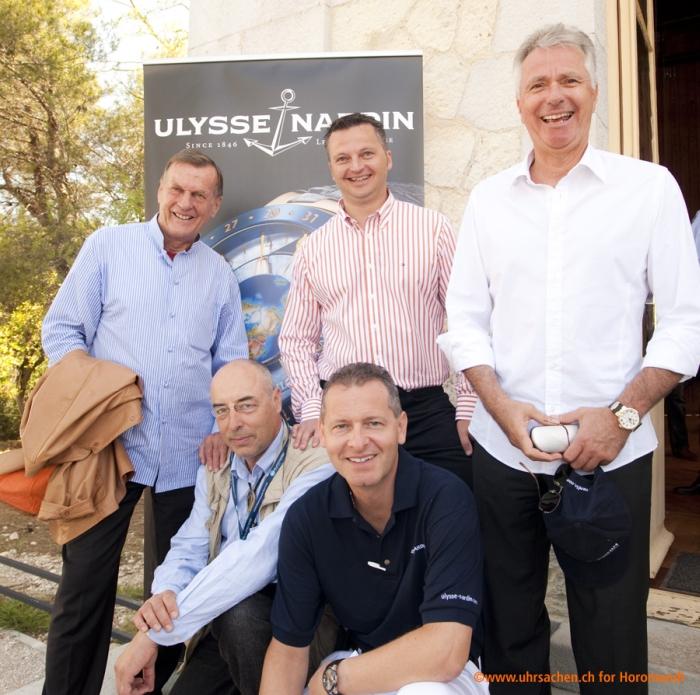 Rolf Schnyder, Lucas Humair (технический директор), Pierre Gygax (главный операционный директор), Ludwig Oechslin и Patrick Hofmann (директор по продажам)