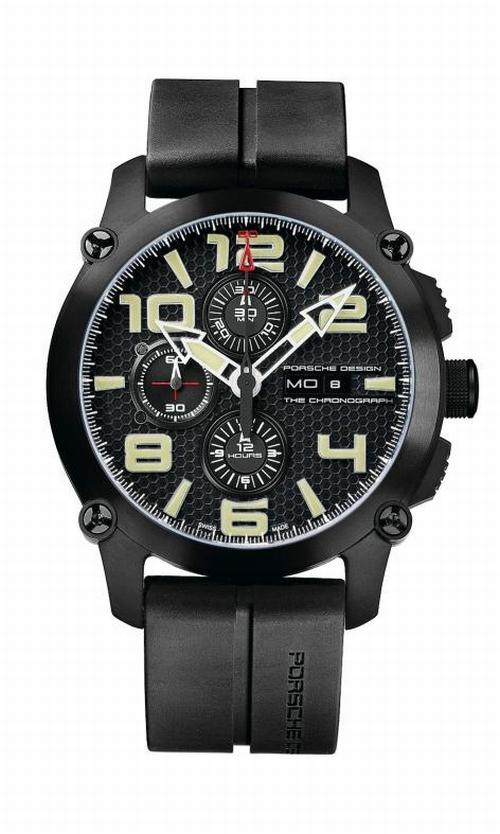 Дизайн хронографа стилизован под знаменитый гоночный автомобиль Porsche Carrera GT