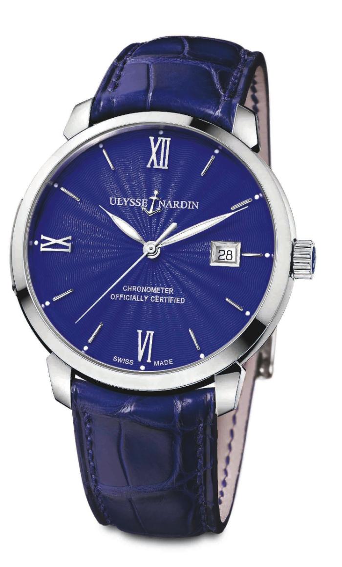 Модель Classico Ulysse Nardin выполнена в фирменном синем цвете