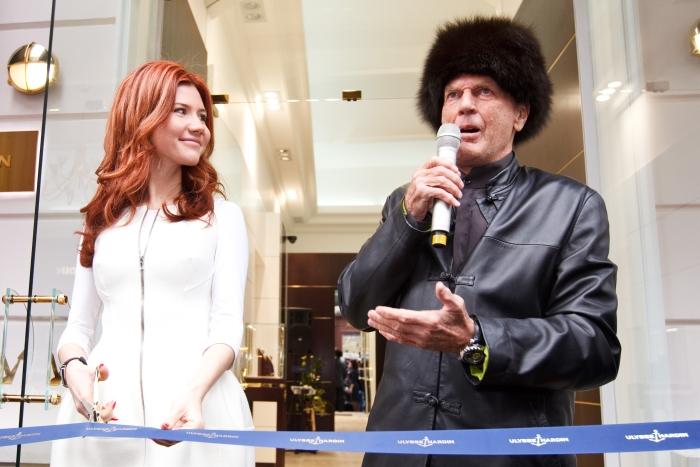 Анна Чапман и Рольф Шнайдер Ulysse Nardin