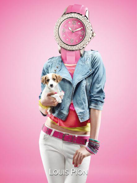 кампания для французской часовой марки louis pion