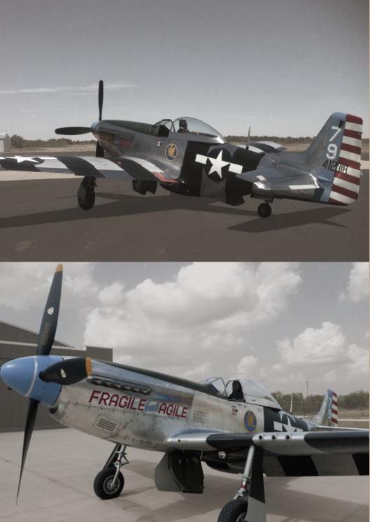 самолет Второй мировой войны Мустанг 1944 года P-51K-10