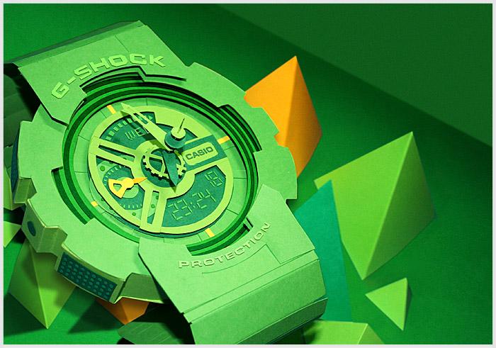 Casio G-Shock из бумаги
