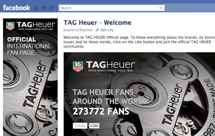 TAG Heuer в Фейсбуке