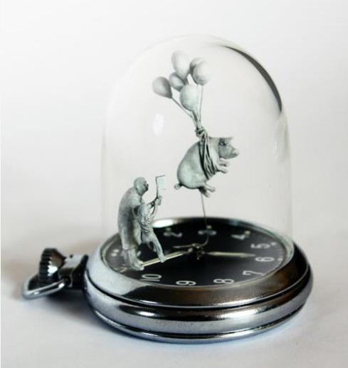 Часовые скульптуры Dominic Wilcox