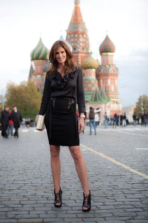 Посол Omega Синди Кроуфорд в Москве