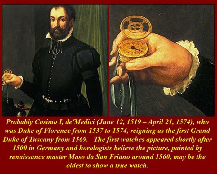 """Первые карманные часы были названы  """"нюрнбергскими яйцами """", хотя они имели форму не яйца, а круглой коробочки."""
