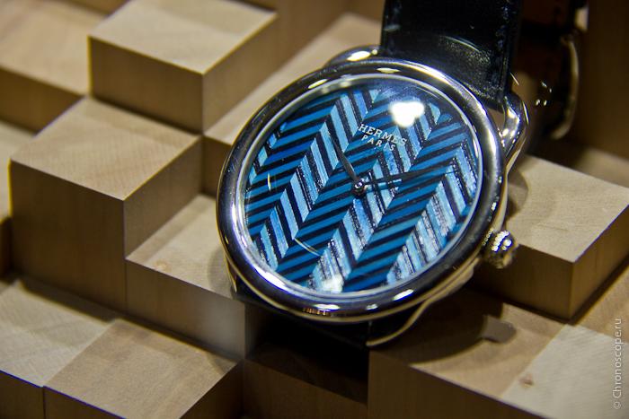 Grand-Prix d Horlogerie de Geneve Hermès Arceau Straw Marquetry