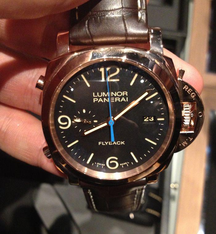 Officine Panerai Flyback Chronograph Oro Rossa