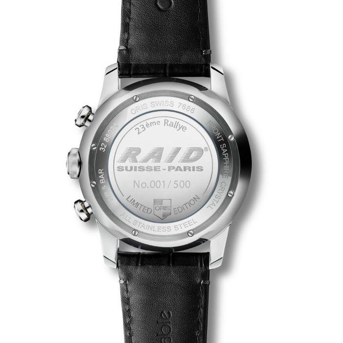 Oris RAID 2013 Chronograph Back