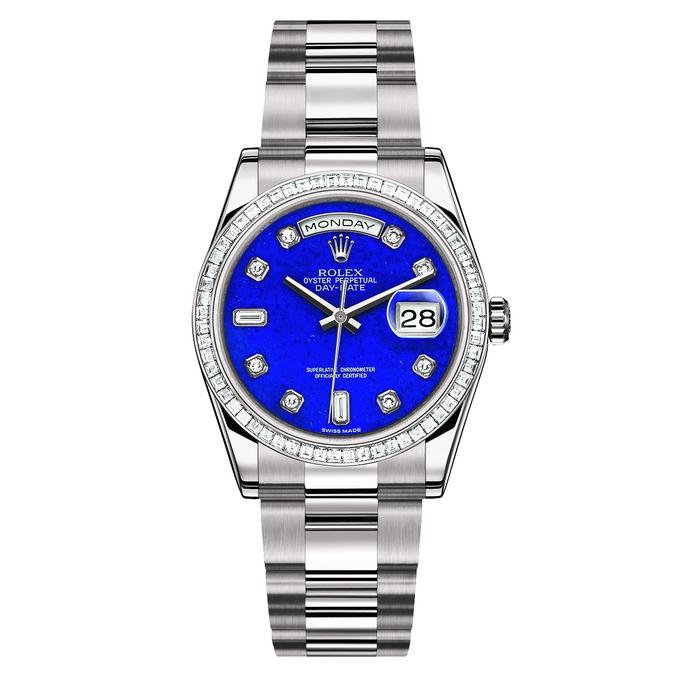 Rolex Oyster Perpetual DAY-DATE «Sertie» Lapis Lazuli