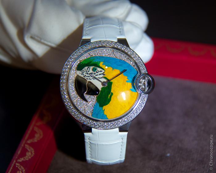 Cartier BallonBleu de Cartier Floral Marquetry Parrot Dial