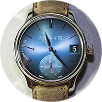 H. Moser & Cie Endeavour Perpetual Calendar Funky Blue